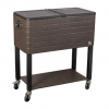 60QT cooler cart with wheels easy to carry
