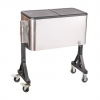 Cooler cart with wheels suitable for self-driving travel camping barbecue